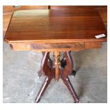 ANTIQUE Walnut Victorian Parlor Table Located Inside – Auction Estimate $100-$300
