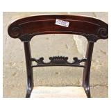 "ANTIQUE ""Set of 10"" Solid Mahogany Dining Room Empire Chairs Located Inside – Auction Estimate $300-"