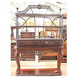 "Contemporary Carved Mahogany Bakers Rack by ""Lexington Furniture"" Located Inside – Auction Estimate"