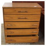 Mid Century Modern Danish Walnut High Chest Located Inside – Auction Estimate $200-$400