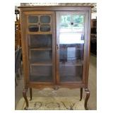 Walnut Queen Anne Depression China Closet Located Inside – Auction Estimate $100-$300