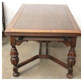 9 Piece Depression Jacobean Walnut and Oak Refectory Dining Room Set Located Inside – Auction Estima