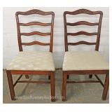 11 Piece Mahogany Dining Room Set Table and 2 Leaves and 8 Ribbon Back Chairs Located Inside – Aucti
