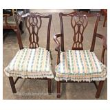 """Set of 6"" SOLID Mahogany Chippendale Style Dining Room Chairs Located Inside – Auction Estimate $10"