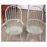 PAIR of Country Distressed Windsor Arm Chairs Located Inside – Auction Estimate $100-$200