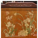 Asian Decorated Mahogany 4 Poster Queen Size Bed Located Inside – Auction Estimate $200-$400