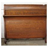 ANTIQUE Quartersawn Oak Full Size Sleigh Bed Located Inside – Auction Estimate $200-$400