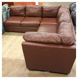 Contemporary 2 Piece Leather Sectional Sofa Located Inside – Auction Estimate $300-$600