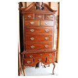 "2 Piece Cherry Queen Anne High Boy by ""Bassett Furniture"" Located Inside – Auction Estimate $100-$30"