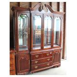 "2 Piece Solid Cherry 4 Drawer China Cabinet by ""Thomasville Furniture"" Located Inside – Auction Esti"