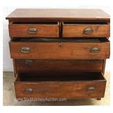 ANTIQUE Mahogany 2 over 3 Hepplewhite Style Chest Located Inside – Auction Estimate $300-$600