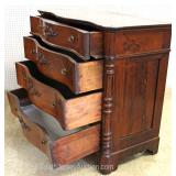 ANTIQUE Victorian Burl Mahogany Butlers Chest with Desk Located Inside – Auction Estimate $300-$600