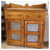 ANTIQUE Country Pierce Carved Pie Safe with Gallery Located Inside – Auction Estimate $300-$600