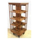 ANTIQUE Oak Revolving Book Stand attributed to Danner Furniture Located Inside – Auction Estimate $3