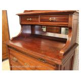 ANTIQUE  R A R E  MODEL Fancy Victorian Butlers Chest with Mirror and Pull Out Tray Original Finish