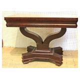ANTIQUE Burl Mahogany Empire Game Table Located Inside – Auction Estimate $100-$300