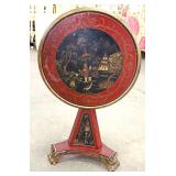 Asian Decorated Tilt Top Center Table Located Inside – Auction Estimate $200-$400