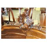 ANTIQUE French Full Size Bed with Carved Rails Located Inside – Auction Estimate $200-$400