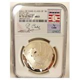 Ty Cobb Graded 70 Ultra Cameo Silver Commemorative Coin Located Inside – Auction Estimate $20-$50