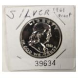 1961 Silver Proof Half Dollar Located Inside – Auction Estimate $10-$30