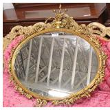 Impressive Fancy Gold Gilt Beveled Mirror Located Inside – Auction Estimate $100-$300