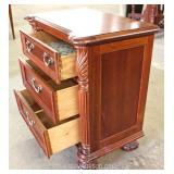 Contemporary Mahogany 3 Drawer Bedside Stand Located Inside – Auction Estimate $50-$100