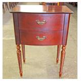 Mahogany 2 Drawer Barley Twist Leg Night Stand Located Inside – Auction Estimate $50-$100