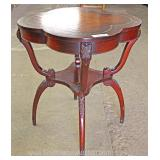 Mahogany Spider Leg Leather Top Lamp Table Located Inside – Auction Estimate $100-$200