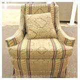 CLEAN Contemporary Upholstered Club Chair with Pillows Located Inside – Auction Estimate $100-$200