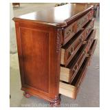 "Contemporary Mahogany 5 Drawer High Chest and Low Chest by ""Pulaski Furniture"" Located Inside – Auct"