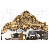 ELABORATE 2 Piece French Style Marble Top Console with Matching Mirror Located Inside – Auction Esti