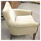 PAIR Mahogany Frame Upholstered Arm Chairs Located Inside – Auction Estimate $200-$400