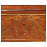 ANTIQUE French Marble Top Satinwood and Inlaid Commode with Applied Bronze Located Inside – Auction