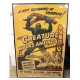Original Movie Poster of 'Creature Walks Among Us' Under Glass in Medium to Fair Condition Located I