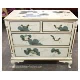 Contemporary White Lacquer Decorated 2 over 2 Chest Located Inside – Auction Estimate $100-$300