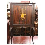ANTIQUE Burl Mahogany and Inlaid Music Stand with Gallery Located Inside – Auction Estimate $200-$40