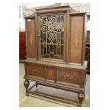Depression Walnut 2 Tone China Cabinet Located Inside – Auction Estimate $200-$400
