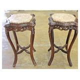 Selection of Mahogany Carved French Style Marble Top Stands Located Inside – Auction Estimate $100-$