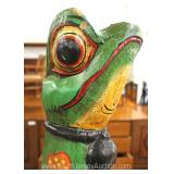 Carved Wooden Frog Statue Located Inside – Auction Estimate $100-$200