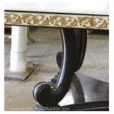 – Nice Decorator Piece —  French Empire Style Marble Top Dining Room Table