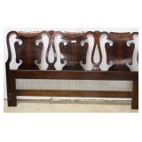 "SOLID Burl Mahogany 7 Piece Chippendale Style Bedroom Set  with King Size Headboard by ""Henredon F"