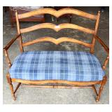 SOLID Cherry Country Style Settee