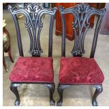 'Set of 10' SOLID Mahogany Ball and Claw Chippendale Style Dining Room Chairs