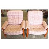 PAIR of Mid Century Modern Danish Walnut Club Chairs