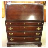 "Mahogany Bracket Foot Slant Front Desk by ""American Drew Furniture"""
