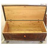 Depression Walnut Two Tone Cedar Chest