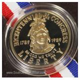 United States 1789-1989 Bicentennial of the Congress Commemorative Coin
