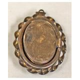 Military 1/20 12kt on Sterling Locket