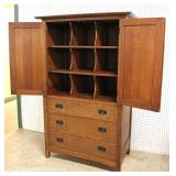 "BEAUTIFUL Mission Oak Gentlemen Chest by ""Stickley Furniture"" with Hidden Drawer Bottom Hideaway Spa"