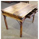 Antique Style 2 Drawer Desk in the Cedar